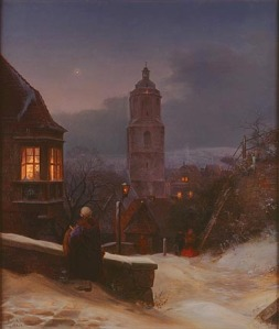 Ernst Ferdinand Oehme, Meissen in Winter, 1854. Gift of the René von Schleinitz Foundation. Photo credit P. Richard Eells