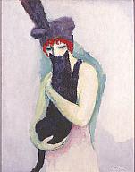Kees van Dongen, Woman with Cat, 1908. Gift of Mrs. Harry Lynde Bradley. Photo credit P. Richard Eells. ©2010 Artists Rights Society (ARS), New York / ADAGP, Paris