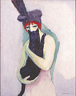 Kees van Dongen, Woman with Cat, 1908. Gift of Mrs. Harry Lynde Bradley. Photo credit P. Richard Eells. ©2010 Artists Rights Society (ARS), New York / ADAGP, Paris
