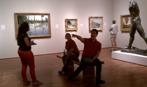Satellite students thrilled by the Impressionism gallery.
