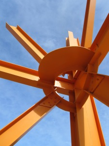 Mark di Suvero (American, b. China, 1933) The Calling, 1981-82 painted steel height: 40 ft (1219.2 cm) Bluff Park, Milwaukee, Milwaukee County, Wisconsin, Gift of Anonymous Donor through Milwaukee Art Museum M1981.305 © Mark di Suvero; Courtesy of Spacetime C.C.