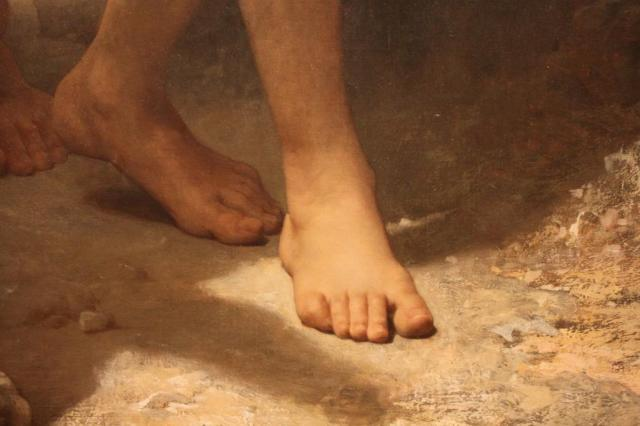 William-Adolphe Bouguereau, Homer and His Guide (detail), 1874. Oil on canvas. Layton Art Collection, Gift of Frederick Layton. Photo by the author