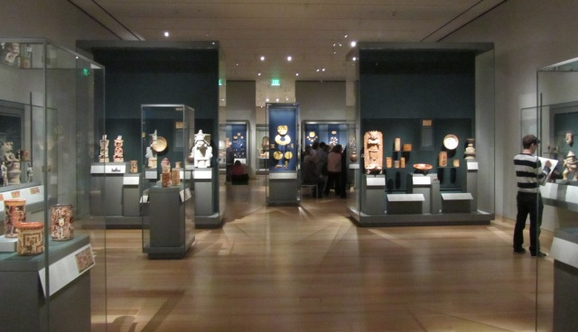 Ancient Central American gallery, Art of the Americas wing, Boston MFA. Photo by the author.