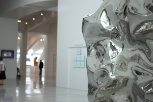 Zhan Wang, Artificial Rock No. 43 (detail), 2008. Stainless steel. Private collection. Photo by the author.