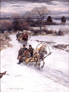 Alfred Kowalski (Polish, 1849–1915) Winter in Russia, before 1885 Oil on canvas Milwaukee Art Museum, Layton Art Collection, Gift of Frederick Layton L1888.15 Photo credit John R. Glembin
