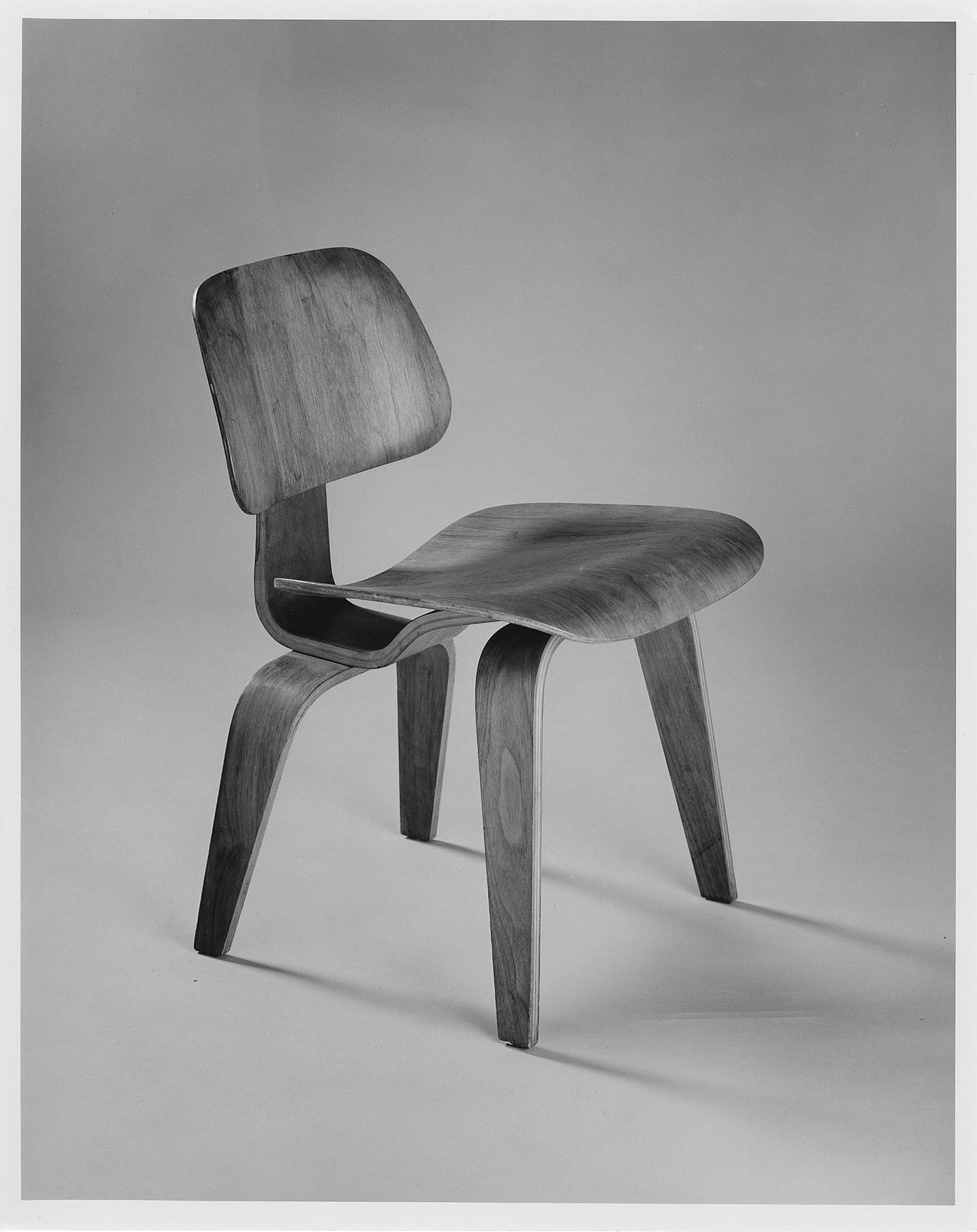 From Museum Storage–Beneath a Ray and Charles Eames LCW Chair