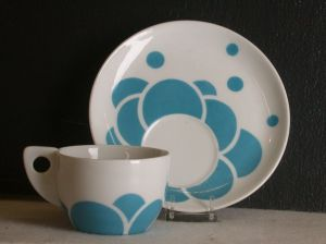 Austria, Vienna Designer: Jutta Sika (Austrian, 1877-1964) Maker: Wiener Porzellan-Manufaktur Jos. Böck (Austrian, fl. late 19th-early 20th century) Cup and Saucer (part of a coffee service), 1901/02. Art Institute of Chicago.