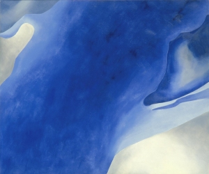 Georgia O'Keeffe, Blue B, 1959. Oil on canvas. Milwaukee Art Museum. Gift of Mrs. Harry Lynde Bradley. Photo credit Larry Sanders. ©2010 Georgia O'Keeffe Museum / Artists Rights Society (ARS), New York.