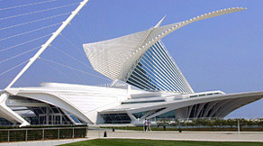 Quadracci Pavilion, Milwaukee Art Museum. Designed by Santiago Calatrava.