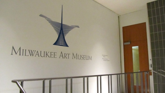 """Milwaukee Art Museum"" in Weiss Antiqua font. Photo by the author."