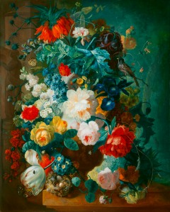 Jan van Os (Dutch, 1744-1808).  Flowers in Terra-Cotta Vase.  after 1780.  Oil on panel.  Milwaukee Art Museum, Layton Art Collection, gift of Frederick Layton, L111. Photo credit: Larry Sanders.