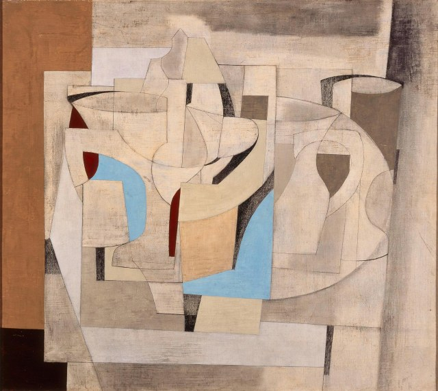 Ben Nicholson (English, 1894-1982).  Still Life, Crystal.  1948.  Oil and pencil on canvas.  Milwaukee Art Museum, gift of Friends of Art, M1958.8.  Photo credit: John R. Glembin.