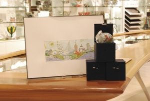Chrisanne Robertson's illustration in the Museum Store. Photo by the author