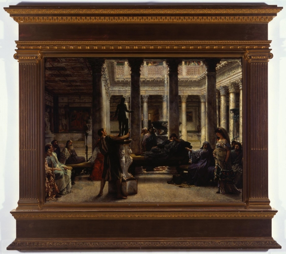 Lawrence Alma-Tadema (English, b. Dutch, 1836–1912), A Roman Amateur (also known as A Roman Art Lover), 1870. Oil on wood panel, 29 x 39 1/2 in. Milwaukee Art Museum, Layton Art Collection, Gift of the following Layton Art Gallery Trustees, plus Layton funds, between 1892-96: George Dickens, Frederick Layton, William Plankinton, B.K. Miller, Samuel Marshall, J.H. Van Dyke, L149. Photo by John Neinhuis.