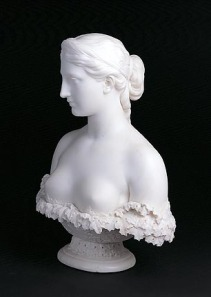 Hiram Powers (American, 1805-1873).  Proserpine.  Designed 1844; made 1844-1878.  Marble; 25 x 19-1/4 x 10 in.  Milwaukee Art Museum, Layton Art Collection L1897.1.  Photo credit: Larry Sanders.