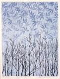 Keiji Shinohara (Japanese, b. 1955), Winter Garden, 1998. Color woodcut, sheet: 17 5/16 x 13 1/16 in. Milwaukee Art Museum, Gift of Print Forum, M2005.1. Photo by John R. Glembin.