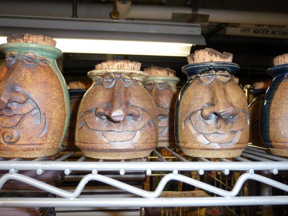 Ceramics waiting to go on display