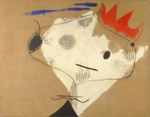 Joán Miró (Spanish, 1893–1983), The King's Jester (Le Fou Du Roi), 1926. Oil, pencil and charcoal on canvas; 45 x 57 1/2 in. Milwaukee Art Museum, Gift of Mr. and Mrs. Maurice W. Berger M1966.142. Photo credit John Nienhuis, Dedra Walls © Successió Miró / Artists Rights Society (ARS), New York / ADAGP, Paris.