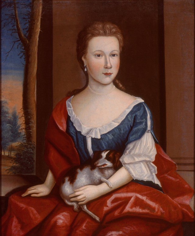 Attributed to Gerardus Duyckinck I (American, 1695–1746), Portrait of Jacomina Winkler, ca. 1735. Oil on canvas, 30 x 25 in. Milwaukee Art Museum, Layton Art Collection, Purchase L1994.2. Photo by John R. Glembin.