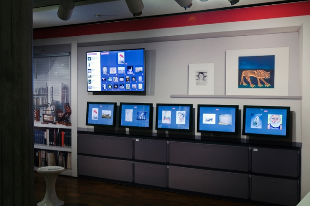 View of the voting stations in the Kohl's Art Generation Lab: Museum Inside Out. Photo by John R. Glembin