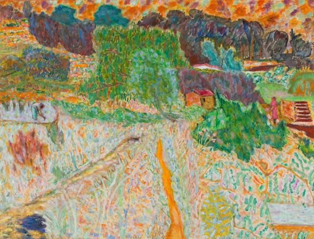 Pierre Bonnard (French, 1867–1947), View from the Artist's Studio, Le Cannet, 1945. Oil on canvas; 37 1/2 x 49 1/2 in. Milwaukee Art Museum, Gift of Mr. and Mrs. Harry Lynde Bradley M1952.7. Photo credit John R. Glembin. © 2008 Artists Rights Society (ARS), New York / ADAGP, Paris.