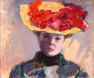 Pierre Bonnard (French, 1867–1947), Girl in Straw Hat (Femme au Chapeau Rouge), 1903. Oil on canvas; 15 1/8 x 17 5/8 in. Milwaukee Art Museum, Gift of Mr. and Mrs. Harry Lynde Bradley M1958.13. Photo credit P. Richard Eells. ©2010 Artists Rights Society (ARS), New York / ADAGP, Paris.