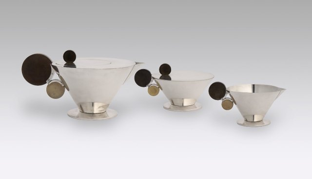Grete Marks (German, 1899–1990), Haël Werkstätten Factory (Marwitz, 1923–34). Tea Service, ca. 1930. The Nelson-Atkins Museum of Art, Kansas City, Missouri. Purchase: The Charlotte and Perry Faeth Fund. Photo: Jamison Miller.