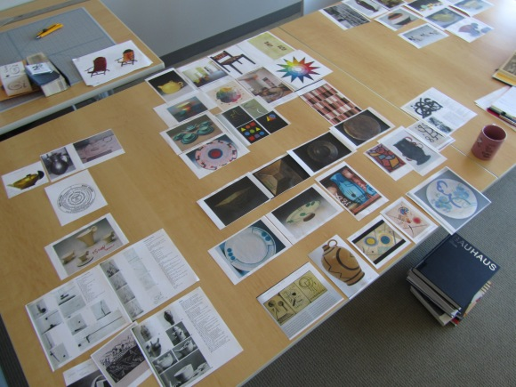 Visual checklist for ideas and arrangement. Photo by the author.
