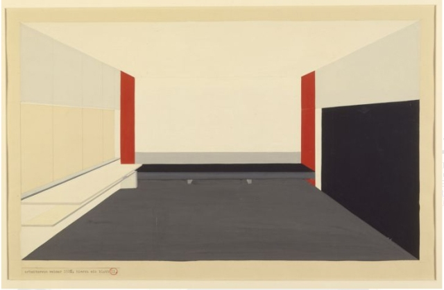 Peter Keler, Design for the Moholy-Nagy Atelier, Sheet 1, 1924.