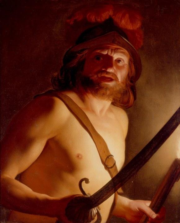 Gerrit van Honthorst (Dutch, 1590–1656, active in Italy) Mars, God of War, ca. 1624–27 Oil on canvas 35 1/2 x 29 in. (90.17 x 73.66 cm) Gift of Mr. and Mrs. Myron Laskin M1975.121 Photo credit Larry Sanders
