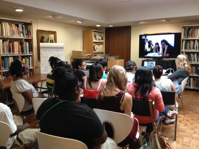"Museum interns had a ""Skype date"" with teens from the New York City Museum Teen Summit."