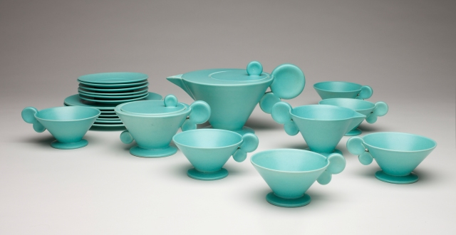 Grete Marks (German, 1899–1990), Haël Werkstätten Factory (Marwitz, 1923–34). Tea Service, ca. 1930. Milwaukee Art Museum, Purchase, by exchange. Photo by John R. Glembin.