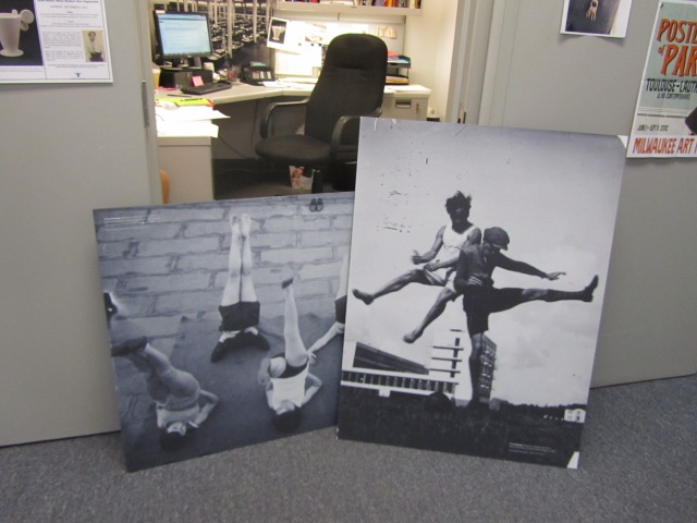 "Photographic reproductions that were not used in ""Grete Marks"" installation. Photo by the author."