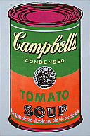 Andy Warhol, Campbell's Soup, 1965. Acrylic on canvas. Milwaukee Art Museum, gift of Mrs. Harry Lynde Bradley. Photo credit Efraim Lev-er. © 2008 The Andy Warho Foundation for the Visual Arts, Inc. / Artists Rights Society (ARS), New York