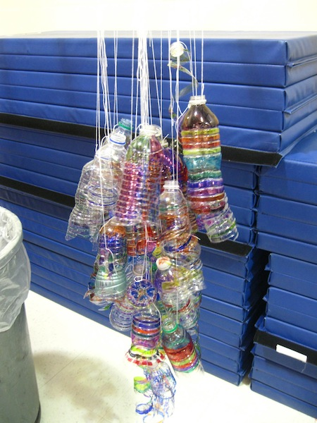 Now your bottles are ready to add to the sculpture!