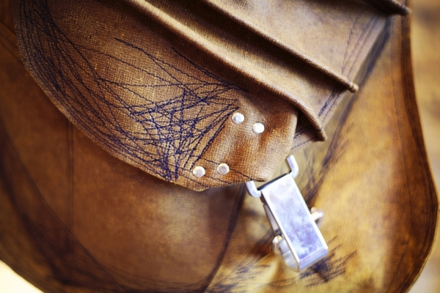 Detail of (h(om)e) handbag. Photo by Megan Yanz Photography
