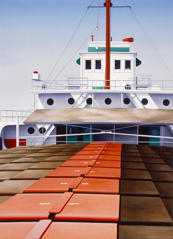 Edmund Lewandowski (American, 1914–1998) Wisconsin Ore Freighter, 1948 Oil on canvas 42 x 30 3/4 in. (106.68 x 78.11 cm) Gift of Gimbel Bros. M1959.29 Photo credit Larry Sanders © Estate of Edmund Lewandowski