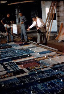 Lewandowski working on installation of Allen Bradley Mosaic