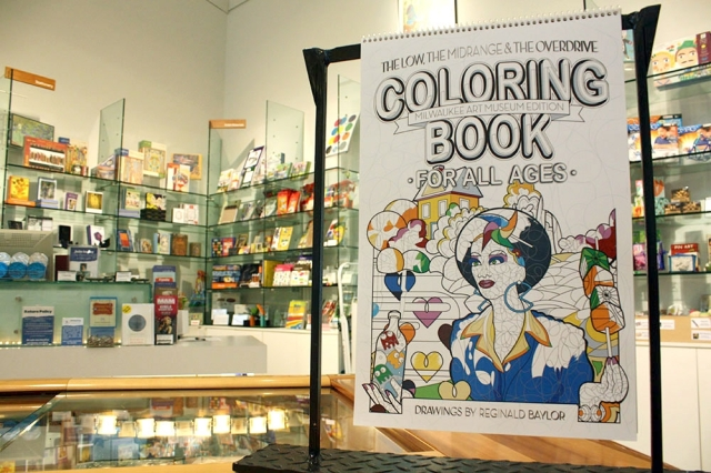A view of the Reginald Baylor Coloring Book. Photo by Kris Martinez