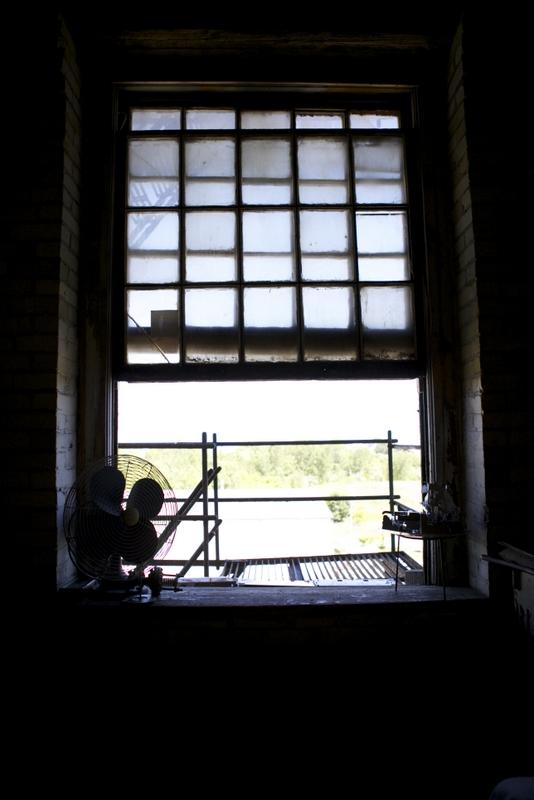 Studio window foreground view. Photo by Megan Yanz Photography