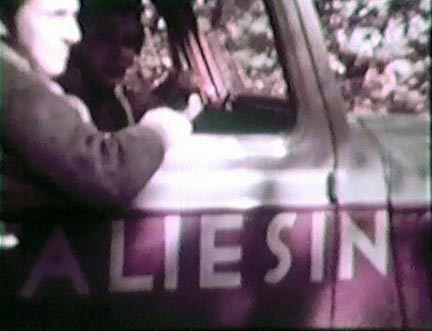 Film still: Taliesin truck, late 1930s-early 1940s. Milwaukee Art Museum, Institutional Archives.