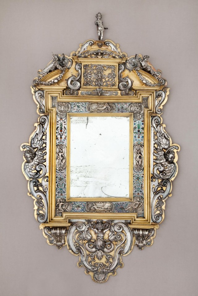 In the manner of David Altenstetter Augsburg, Germany, d. 1617. Mirror, ca. 1600. Enamel, silver, and gilt. Milwaukee Art Museum, Purchase, with funds from Avis Martin Heller in honor of the Fine Arts Society. Photo credit John R. Glembin