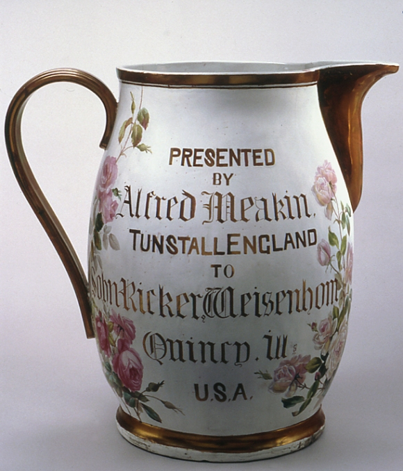 Jug, Staffordshire, England, ca. 1850, Chipstone Foundation Collection. Photo by Gavin Ashworth.