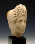 Roman [Flavian Period], Head of a Noble Woman, 96–100 AD. Pentelic Marble. Milwaukee Art Museum, purchase, with funds from the Woman's Exchange.  Photo credit Larry Sanders.