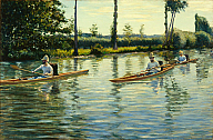Gustave Caillebotte (French, 1848–1894), Boating on the Yerres (Périssoires sur l'Yerres), 1877. Oil on canvas. Milwaukee Art Museum, Gift of the Milwaukee Journal Company, in honor of Miss Faye McBeath. Photo credit John R. Glembin