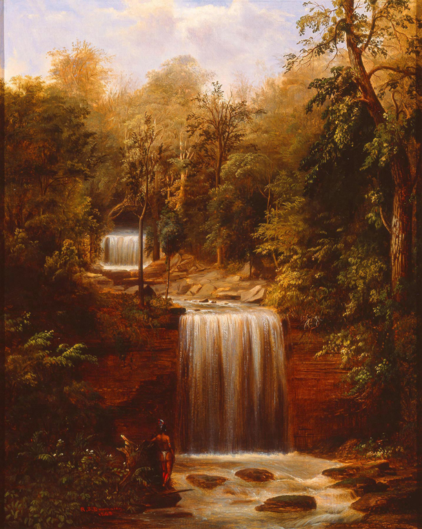 Robert S. Duncanson (American, 1821–1872). Minneopa Falls, 1862. Oil on canvas. Milwaukee Art Museum, Purchase, Andrew A. Ziegler Fund. Photo credit John R. Glembin