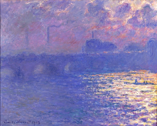 Claude Monet (French, 1840–1926). Waterloo Bridge, Sunlight Effect, ca. 1900 (dated 1903). Oil on canvas. Milwaukee Art Museum, Bequest of Mrs. Albert T. Friedmann. Photo credit John R. Glembin