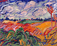 Maurice de Vlaminck (French, 1876–1958). The Wheat Field (Champs de Ble), ca. 1906. Oil on canvas. Milwaukee Art Museum, Gift of Mrs. Harry Lynde Bradley. Photo credit Efraim Lev-er. ©2010 Artists Rights Society (ARS), New York / ADAGP, Paris