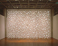 Cornelia Parker (English, b. 1956). Edge of England, 1999. Chalk, wire, and wire mesh. Milwaukee Art Museum, Gift of Friends of Art. Photo credit Larry Sanders