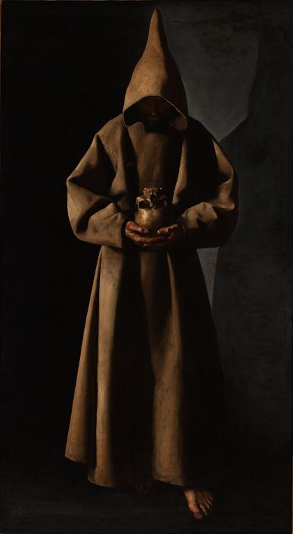 Francisco de Zurbarán (Spanish, 1598–1664). Saint Francis of Assisi in His Tomb, 1630/34. Oil on canvas. Milwaukee Art Museum, Purchase. Photo credit John R. Glembin